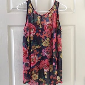 Floral sheer multicolor tank!!